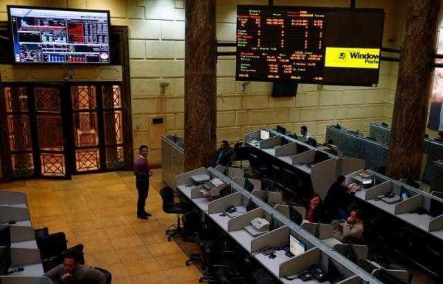 اللون الأحمر يسيطر علي مؤشرات البورصة المصرية في منتصف جلسة الثلاثاء
