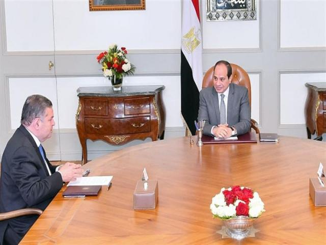 الرئيس عبد الفتاح السيسى - وزير قطاع الأعمال
