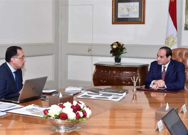 الرئيس عبد الفتاح السيسي يجتمع مع رئيس الوزراء