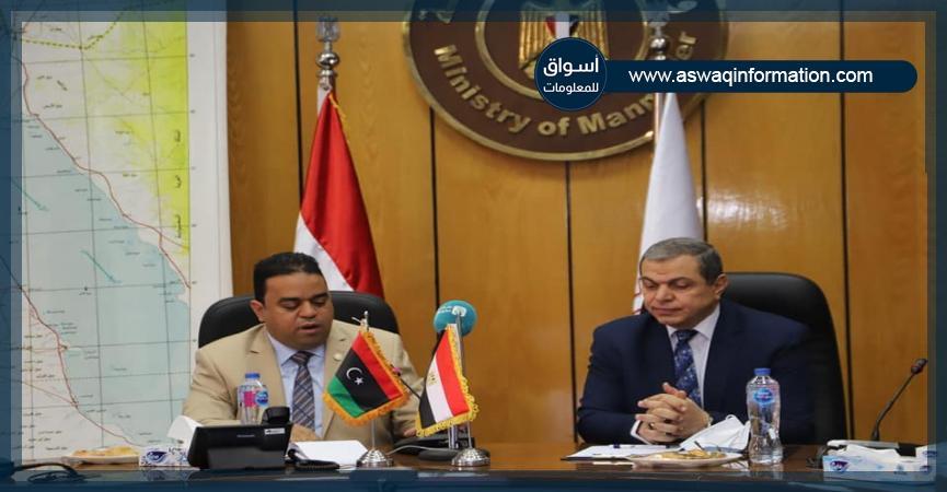 وزير القوى العاملة مع وزير العمل الليبي