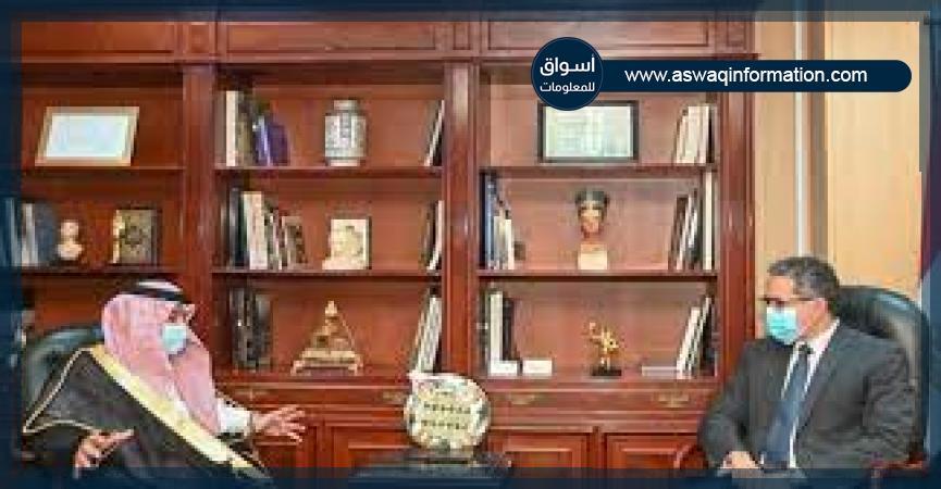وزير الآثار يجتمع مع وزير التجارة السعودي
